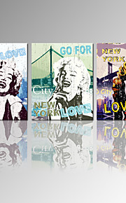 VISUAL STAR®Marilyn Monroe Canvas Wall Art Home Decor Canvas 3 pieces Artwork Ready to Hang