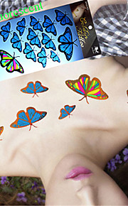 5Pcs Fashion Waterproof Temporary Tattoos Fluorescent Butterfly Tattoo Stickers