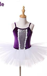 kids dance costumes/Ballet Tutus & Skirts/Dresses/Tutus Children's Performance/Training Tulle/Velvet Paillettes 1 Piece