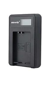camera acculader met het scherm voor Canon LP-E12 zwart