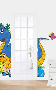 애니멀 / 카툰 / 로맨스 / 패션 벽 스티커 플레인 월스티커 , PVC 90CM*60CM*0.1CM