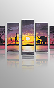 BPAGO Modern Africa Five Stretched Canvas Print Ready to Hang