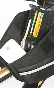 Bike Frame Bag - Vedenkestävä/Kosteuden kestävä/Kestävä/Monitoiminen ( Musta , 1680D Polyesteri , 0.85L L)  Pyöräily