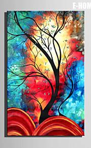 e-home® strukket lerret kunst farge tre dekormaling ett stk