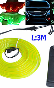 Neon LED Light EL Wire String Rope Wire Car Bar Dance Party Decoration Fashion Show Skirt Edge with 3V Battery Control