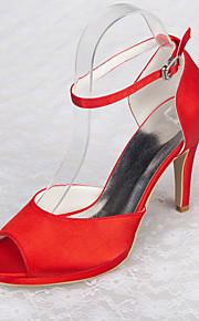 Chaussures Femme - Mariage / Bureau & Travail / Habillé / Décontracté / Soirée & Evénement - Rouge - Talon Aiguille -Talons / Bout Ouvert