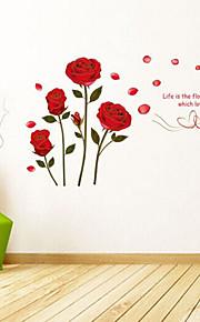 Botanique / Mots& Citations / Romance / Floral Stickers muraux Stickers avion , PVC 45cm*60cm
