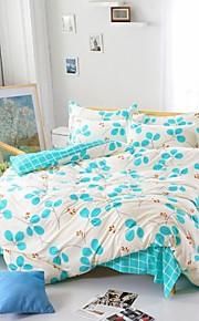 남자와 여자 침대 시트 중국 변덕스러운 잎 파란색과 흰색 여왕과 트윈 사이즈 샌딩 침구 mingjie® 세트 4 개