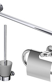 Barre porte-serviette / Porte Papier Toilette / Porte Brosse de Toilette , Contemporain Chrome Fixation au Mur