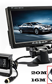renepai® 7 inch hd-monitor + bus 170 ° hd auto achteruitrijcamera waterdichte camera kabellengte 10m, 16m, 20m,