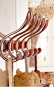 Crochet à Peignoir / Gadget de Salle de Bain , Néoclassique Rose Doré Fixation au Mur
