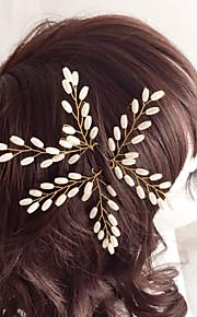 Celada Pasador de Pelo Boda / Ocasión especial Perla Artificial Mujer / Niña de flor Boda / Ocasión especial 3 Piezas