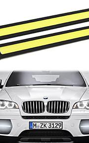 2stk hry® 14cm 600-700lm kørelys hvid / blå farve lys cob DRL vandtæt dagslys (12v)