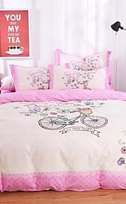 vaaleanpunainen polkupyörän suunnittelu vuodevaatteet sarja 4kpl neljän vuodenajan käyttöön