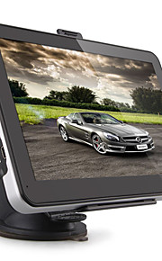 "bil 7 ""touch screen GPS-navigation MTK 128MB ram 8gb med Vesteuropa kort"