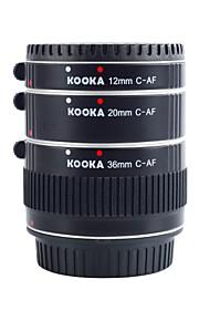 tubi di prolunga af alluminio Kooka-c68a kk per Canon EF&ef-s (12mm 20mm 36mm) fotocamere reflex