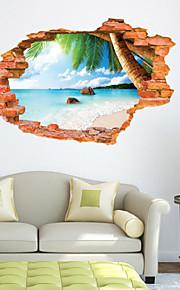 Mote / Landskap / fantasi / 3D Wall Stickers 3D mur klistermærker , Vinyl stickers 87*56cm