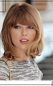 юношеская Тейлор Свифт прическа шапки девственница Remy человека рука привязана-топ средних волнистых волос парики