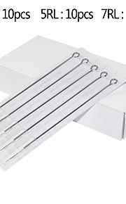 25pcs Assorted Tattoo Needles 10pcs 3RL 10pcs 5RL 5pcs 7RL  Super Tight Needles