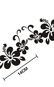 sjove blomster bil sticker bilrude Vægoverføringsbillede bil styling 2stk