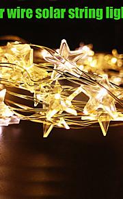 roi ro 4m20led imperméable blanc lumière de décoration intérieure ou extérieure de cuivre noël fil lumière chaude