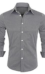 男性用 長袖 シャツ , その他 カジュアル / オフィス / フォーマル プレイド&チェック