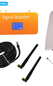 New LCD Display DCS 1800MHz Mobile Phone Signal Booster with Whip and Log Periodic Antenna Kit Coverage 500m²