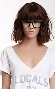 юношеская прекрасный прическа девственница Remy человека рука привязана-топ средних волнистых волос парики шапки