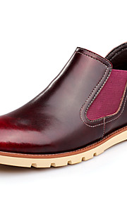 Men's Shoes Wedding / Outdoor / Office & Career / Party & Evening / Casual Leather Boots Black / Brown / Burgundy