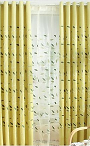 Two Panels Europe Contracted Style Of High-Grade Chenille Fabric Embroidered The Sitting Room The Bedroom Curtains