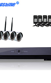 4-kanals trådløse netværk ip kamera kit