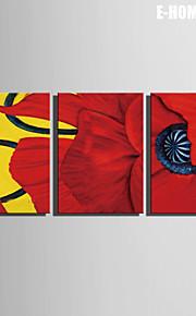 fantasi / Botanisk Lerret Print Tre Paneler Klar til å henge , Lodrett