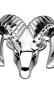 bil styling 3d zink legering krom matal emblem badge mærkat nyindretning auto decal dekoration logo sølv til dodge