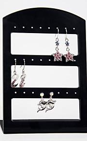 Boucles d'oreilles en acrylique noir bijoux affiche 24 cales