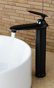 gepersonaliseerde olie-gewreven brons afwerking badkamer wastafel kraan - zwart