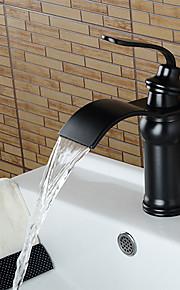 personlig bad vask tappekran olje-gnidd bronse finish enkelt håndtak