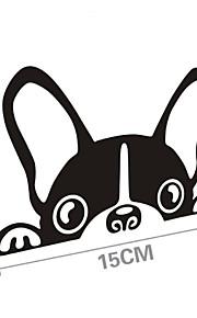 sjove hunde bil mærkat bilrude Vægoverføringsbillede bil styling