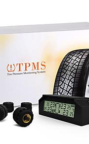 bil auto TPMS dæktryk overvågningssystem trådløse 4 sensorer solenergi