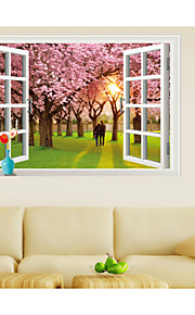 Still Life / Mote / Landskap / fantasi / 3D Wall Stickers 3D mur klistermærker , Vinyl stickers 90*60cm
