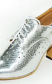 Zapatos de baile ( Negro / Plata ) - Danza latina - Personalizados - Tacón de estilete