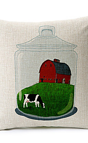 Country in Bottle Cotton/Linen Decorative Pillow Cover