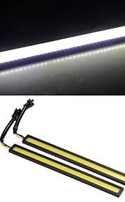 2 * 2w cob førte kørelyslygte lys DRL bil lastbil kørsel hvid gul