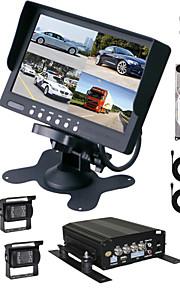renepai® 7 tommer HD-skærm + 1TB harddisk hd bil videooptager bil bakkamera vandtæt kamera 15m