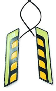 2stk 15.5cm 7w cob 2i1 hvidt kørelys og rav blinklys (DC12V)