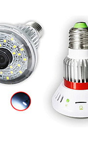 eazzydv HD720p trådløse pære ip kamera med hvidt lys