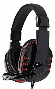 Kanen km-790 bas stereo headset met omnidirectionele microfoon (zwart)