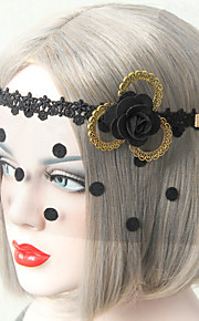 Black Flower Veil Lace Dance Mask