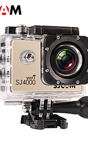 SJCAM SJ4000 WIFI Sportskamera 1.5 5MP / 12MP / 8MP / 2MP / 3MP 1920 x 1080 4X ± 2 EV CMOS 32 GB H.264Fransk / Spansk / Portugisisk /
