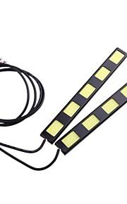 2stk 15cm 10w cob 5 førte bil kørelys bar DRL fjernlyslygte (DC12V)