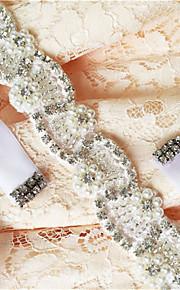 Satin Mariage / Fête/Soirée / Quotidien Ceinture-Billes / Appliques / Perles / Cristal / Strass Femme 250cmBilles / Appliques / Perles /